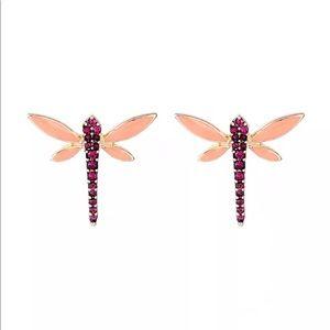 Jewelry - 💎 Gorgeous Rhinestone Dragonfly Earrings